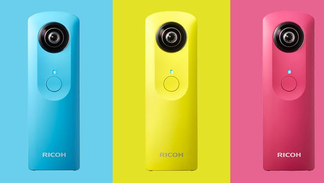 Ricoh took the wraps off its new Theta camera, which can now shoot 360-degree video.