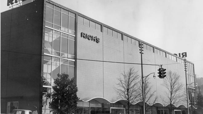 A view of Rich's Department Store on Henley Street as seen on January 26, 1961.