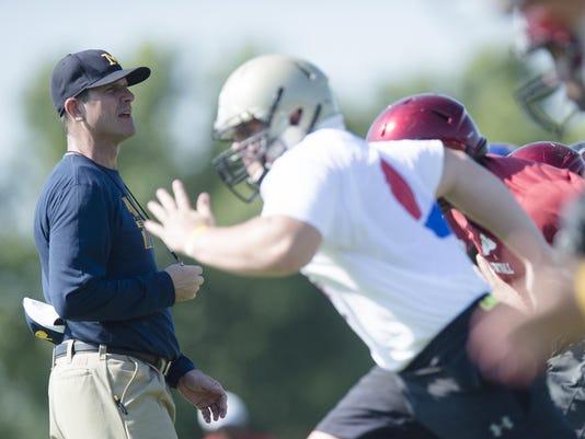 Coach Jim Harbaugh Camp Alabama 106