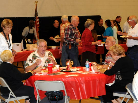Christmas is a time for family and food. Over 100 seniors