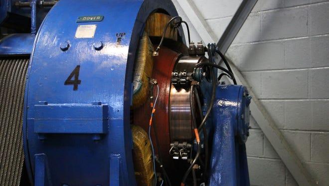 Elevator motor at Carlsbad Caverns.