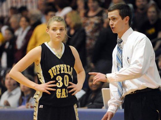 Buffalo Gap's Holly Morgan and head coach Chad Coffey