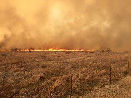Wildfires in Kansas and Oklahoma