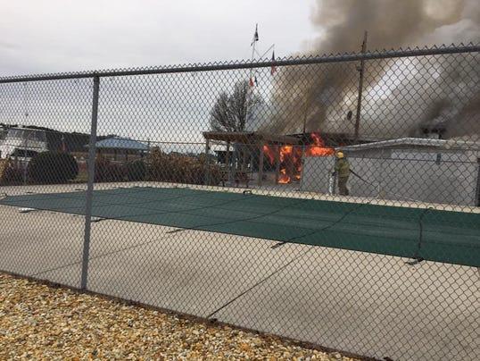 Fire at Wicomico Yacht Club