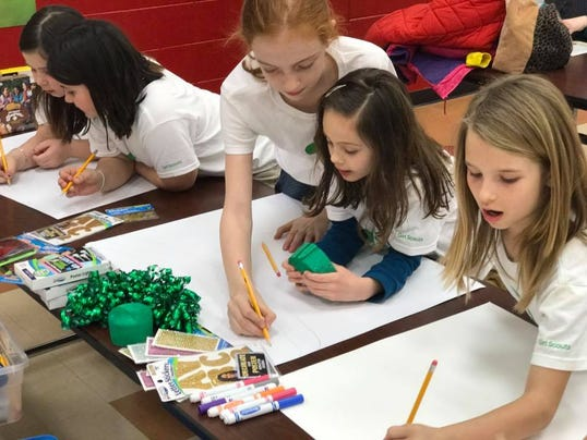 girl scouts works to regain footing in blue water area