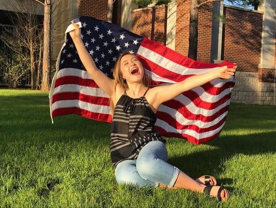 Sara Nieto celebrates her freedom