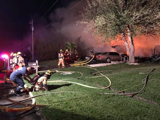Fire ravages home on Southwest Monterrey Lane