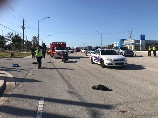 Motorcycle crash on U.S. 1