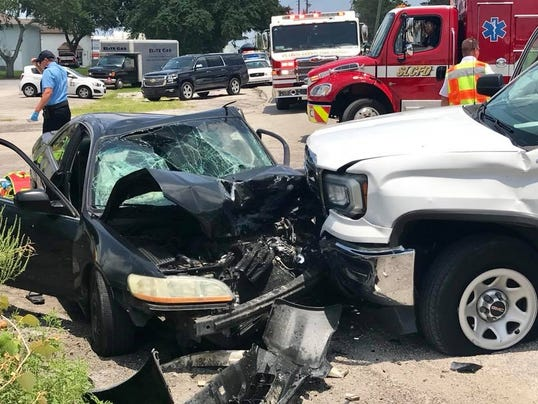 A car crash on Monday leaves three people with serious injuries.