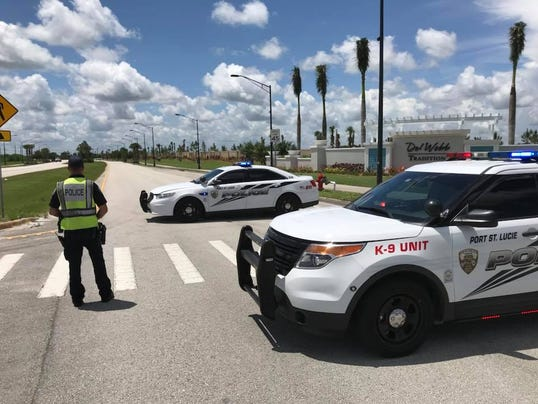 A 57-year-old male died on Thursday after he hit a curb on his motorcycle and hit a tree, Port St. Lucie police said.