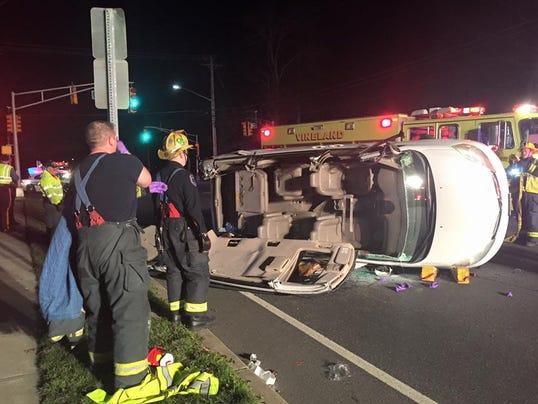 Weekend crash sends one to hospital for Motor vehicle vineland nj