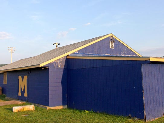 Some hazing by the football team occurred at this building