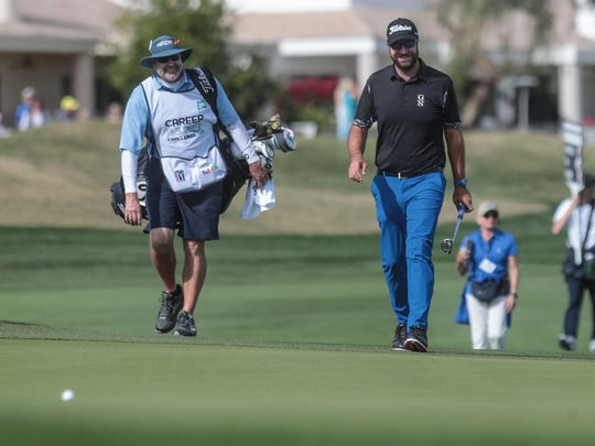 Tom Whitney on 9 during the final round of the CareerBuilder Challenge on Sunday, January 21, 2018 in La Quinta, CA.