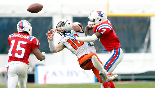 Louisiana Tech safety Xavier Woods (7) was second in the country in interception return yards last year.