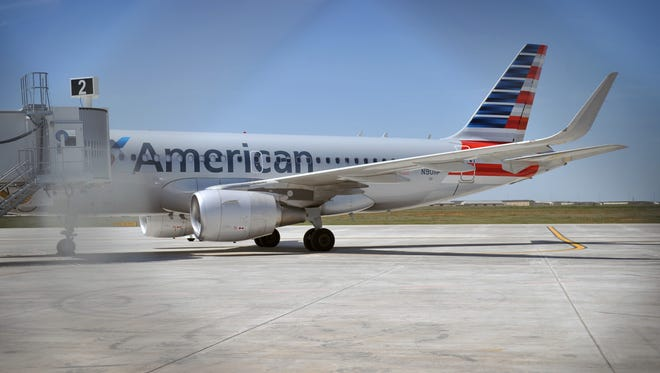An American Airlines Boeing 737 sits on the apron at Wichita Falls Regional Airport  in 2015. A construction company that worked on the airport's taxiway C is suing the city of Wichita Falls claiming breach of contract.