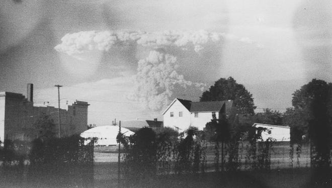 Photographer Kati Dimoff discovered previously unseen images of the Mount Helens eruption in a camera she found at Goodwill.