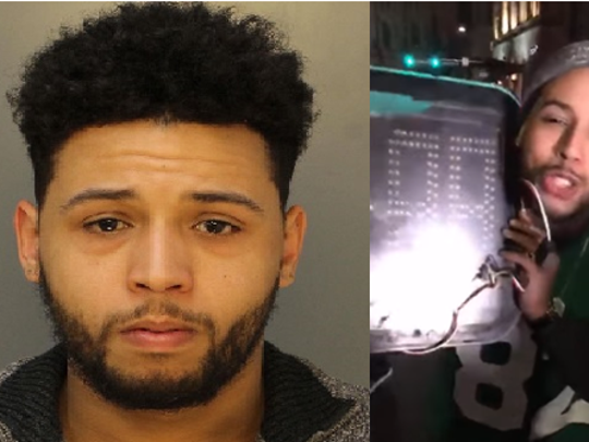 Craig Howe, 24, of Haverford is accused of stealing a timer from a Center City crosswalk after the Philadelphia Eagles' Super Bowl victory.