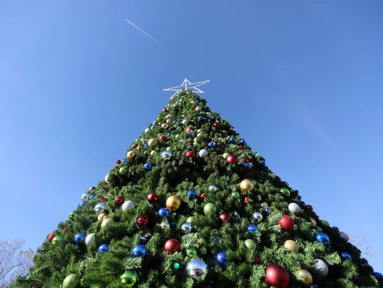 The Christmas tree at Bergen County's Winter Wonderland