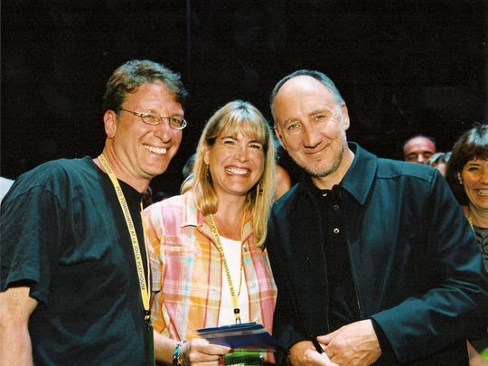 Who fans Seth and Diane Davidson appear with band leader Pete Townshend.