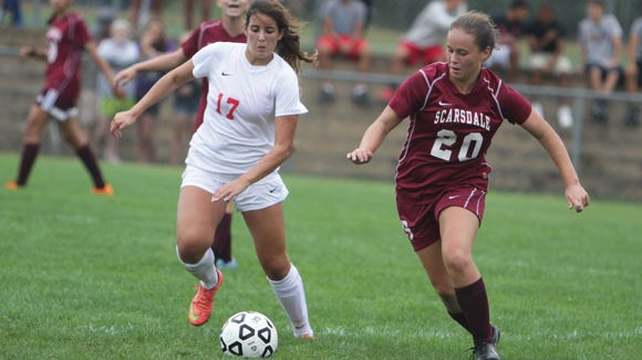 North Rockland junior Brianna Williams (17) and Scarsdale