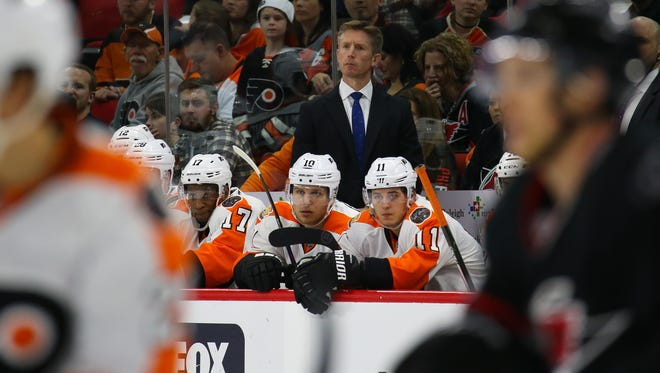 Dave Hakstol's Flyers won't be in the playoffs this season.