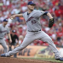 Jimmy Nelson won his career-best third consecutive start as the Brewers beat Cincinnati 7-3 on Saturday.