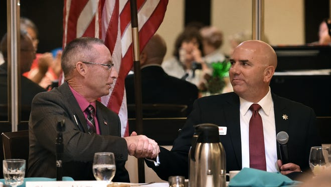 Wahoe County Sheriff candidates Chuck Allen, left, and Tim Kuzanek will debate Thursday night. Watch it live on RGJ.com or KNPB Channel 5.