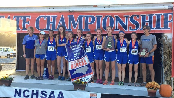 The Brevard girls repeated as NCHSAA 2-A cross country