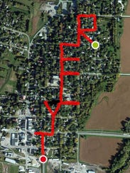 Rik Zortman uses a running app on his phone to write