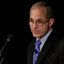 Former FBI director Louis Freeh speaks July 12, 2012, during a news conference in P
