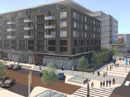 Urban Systems proposed development at Capitol and the 500 block of  Washington in downtown Lansing.