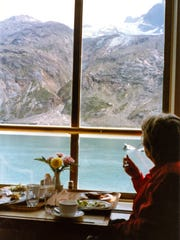 The late Alec Fiesselmann seeing the sights on an Alaska cruise. Her daughters gave her and her husband the cruise for an anniversary gift in 2002.
