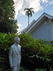 Visitors were able to view this wonderful statue of Henry Ford during the Antique Lincoln, Mercury, Edsel, Fairlane and Woodie Car Exhibition Saturday at the Edison Ford Winter Estates in Fort Myers.