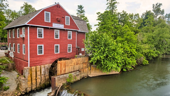 War Eagle Mill in Benton County, Arkansas was originally built in 1832 and is still working. It has been rebuilt three times.