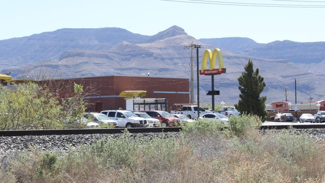 Alamogordo Police Department officers continue their investigation of a train accident after a woman was hit by a Union Pacific train behind McDonald's Friday morning.