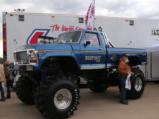 Mansfield Motor Speedway was host to Monster Truck Mania on Saturday night. The event had a meet and greet with drivers, truck rides, and an appearance of Bigfoot No. 1.