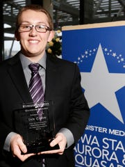 Waukee student Ian Coon received Register Media's 2015