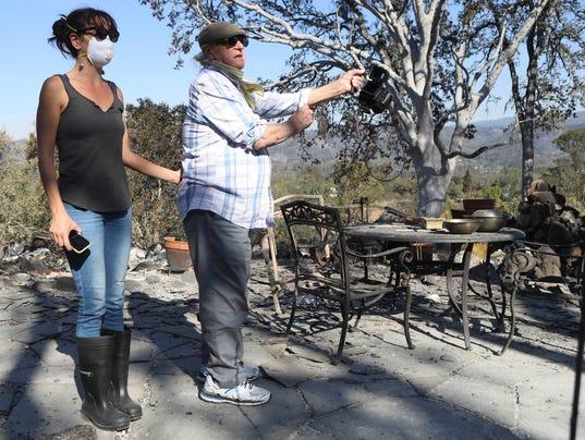 USP NEWS: CALIFORNIA WILDFIRES A USA CA