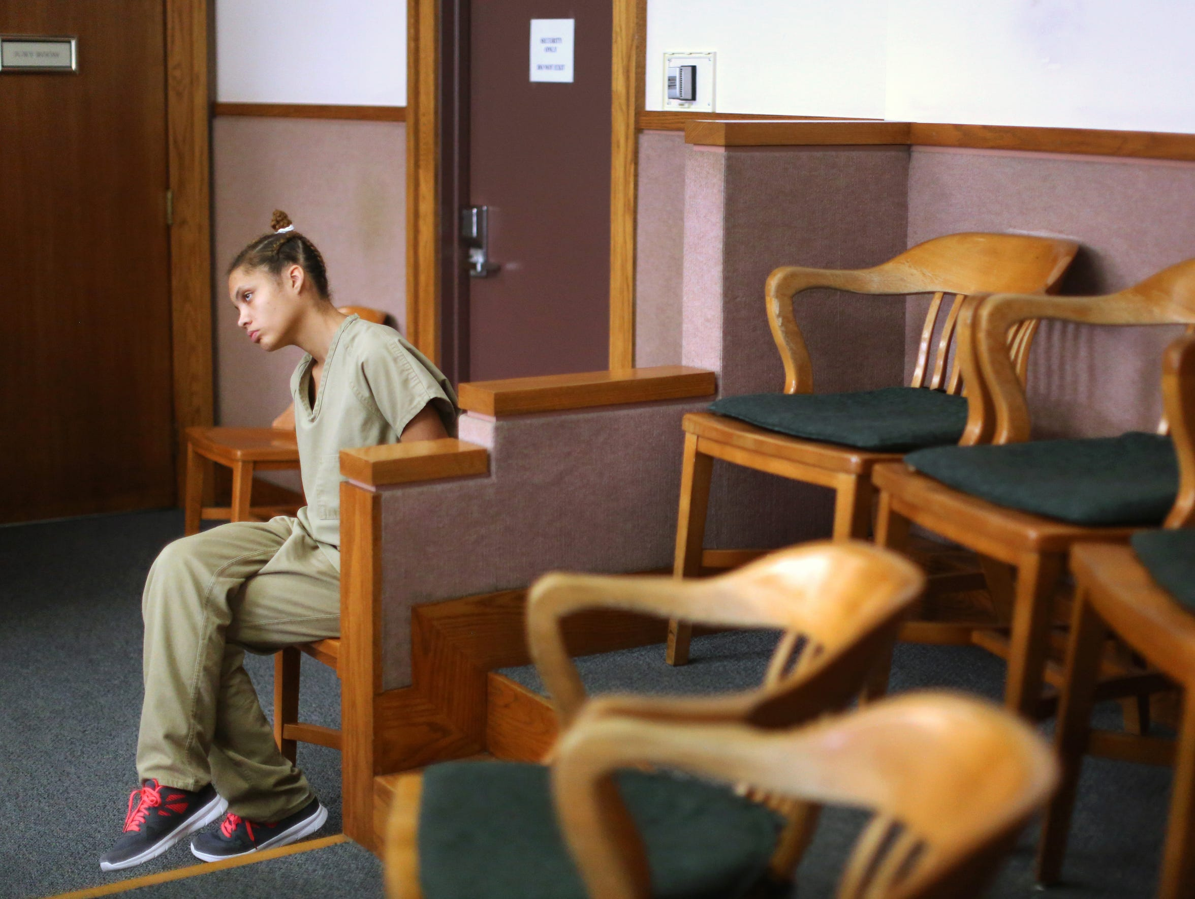Dominique's first court appearance on the drug paraphernalia