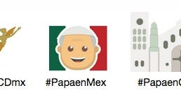 Twitter emojis for Pope Francis' visit to Mexico.