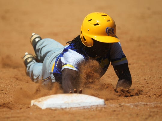 Rickards' Ferante Cowart dives back into first base