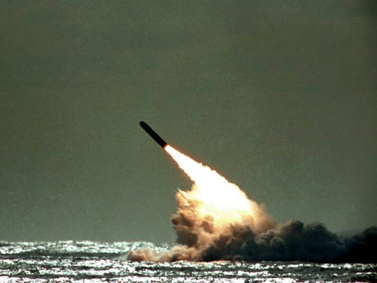 In this file photo dated Monday, Dec. 4, 1989,  a Trident
