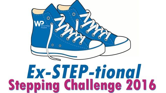 White Plains Hospital Ex-STEP-tional stepping challenge logo