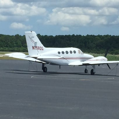 This Cessna 421B plane built  in 1974, owned by the