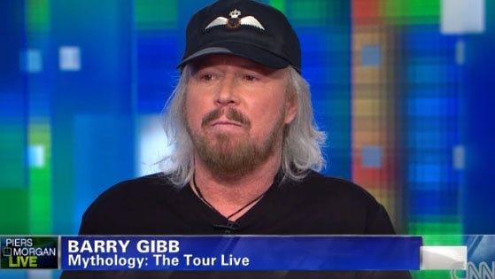 Barry Gibb talks to CNN's Piers Morgan on Jan 29, 2014.