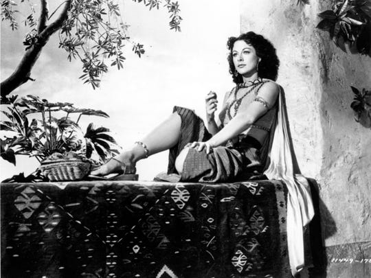 "This is a 1949 photo of actress Hedy Lamarr on the set of the movie ""Samson and Delilah."""