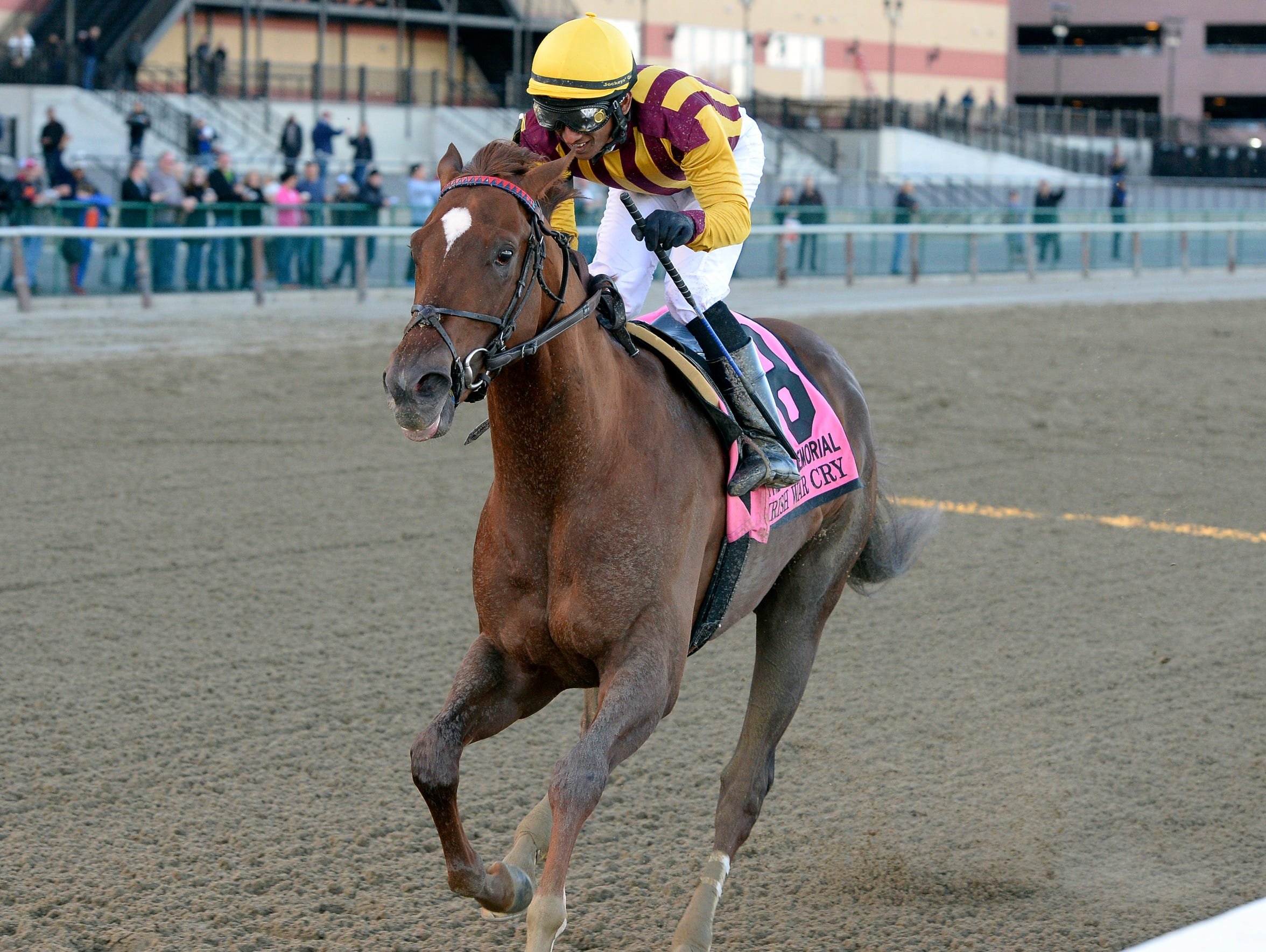 Irish War Cry, with Rajiv Maragh aboard, wins the $750,000