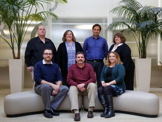 Front row, from left:  Engagement Editor Matt Hund,