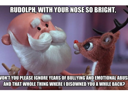 """Still from 'Rudolph the Red-Nosed Reindeer"""" television special, Rankin/Bass Productions, 1964"""