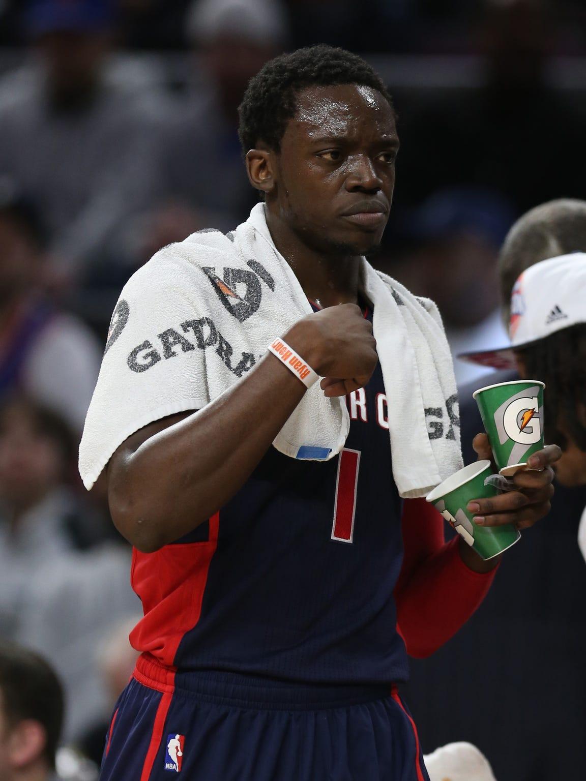 Pistons guard Reggie Jackson